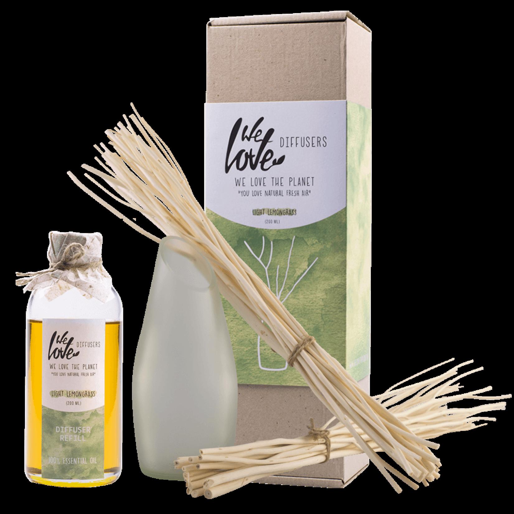 Diffuser set - Light Lemon Grass 200ml (essential oil)
