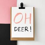 Postkaart - Oh Deer!