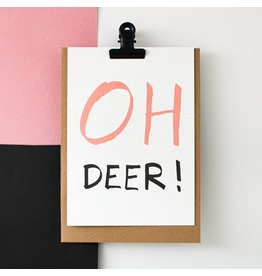 Hello August Postkaart - Oh Deer!