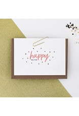 Hello August Postkaart - Happy New Year