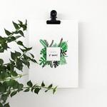 Postkaart - Merry X-mas jungle