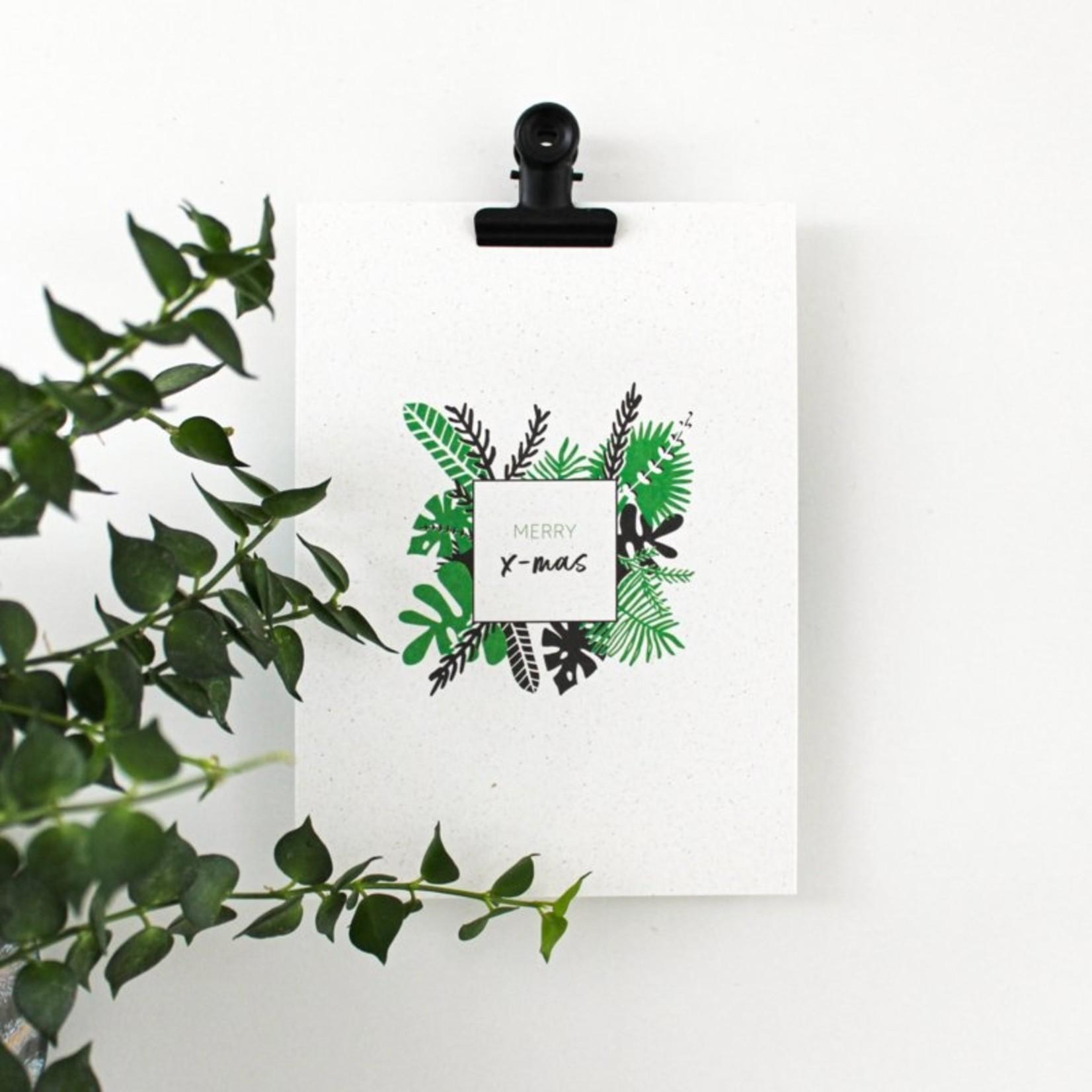 Postkaart - Merry X-mas