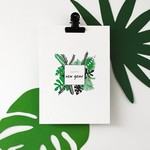 Postkaart - Happy New Year jungle