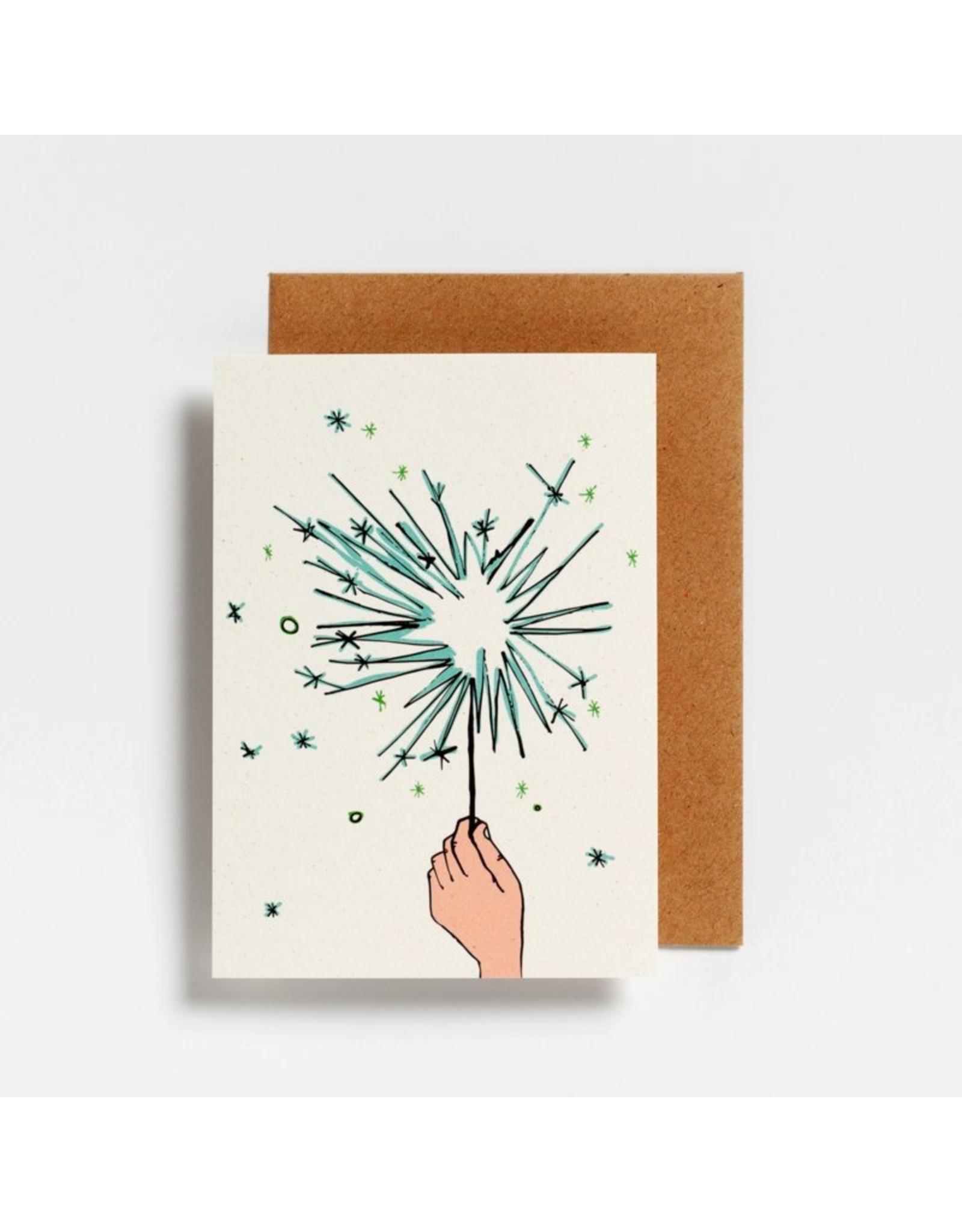 Hello August Postkaart - Spetterend Nieuwjaar
