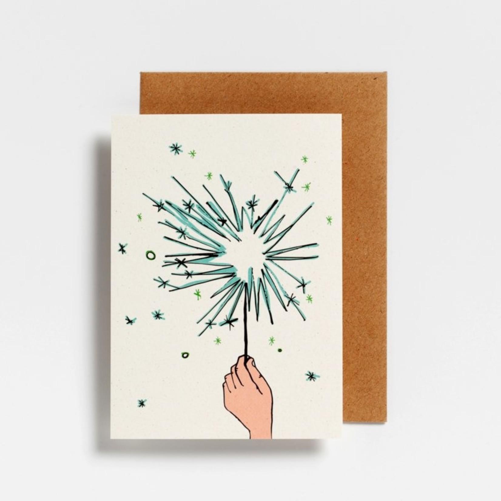 Postkaart - Spetterend Nieuwjaar