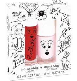 Nailmatic Nagellak set Kids Cottage lip gloss kers en nagellak bella roze