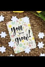 Bloom Your Message Bloeiende confetti kaart 'let me grow'