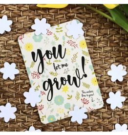 Bloom Your Message Bloeiende confetti kaart 'let me grow'