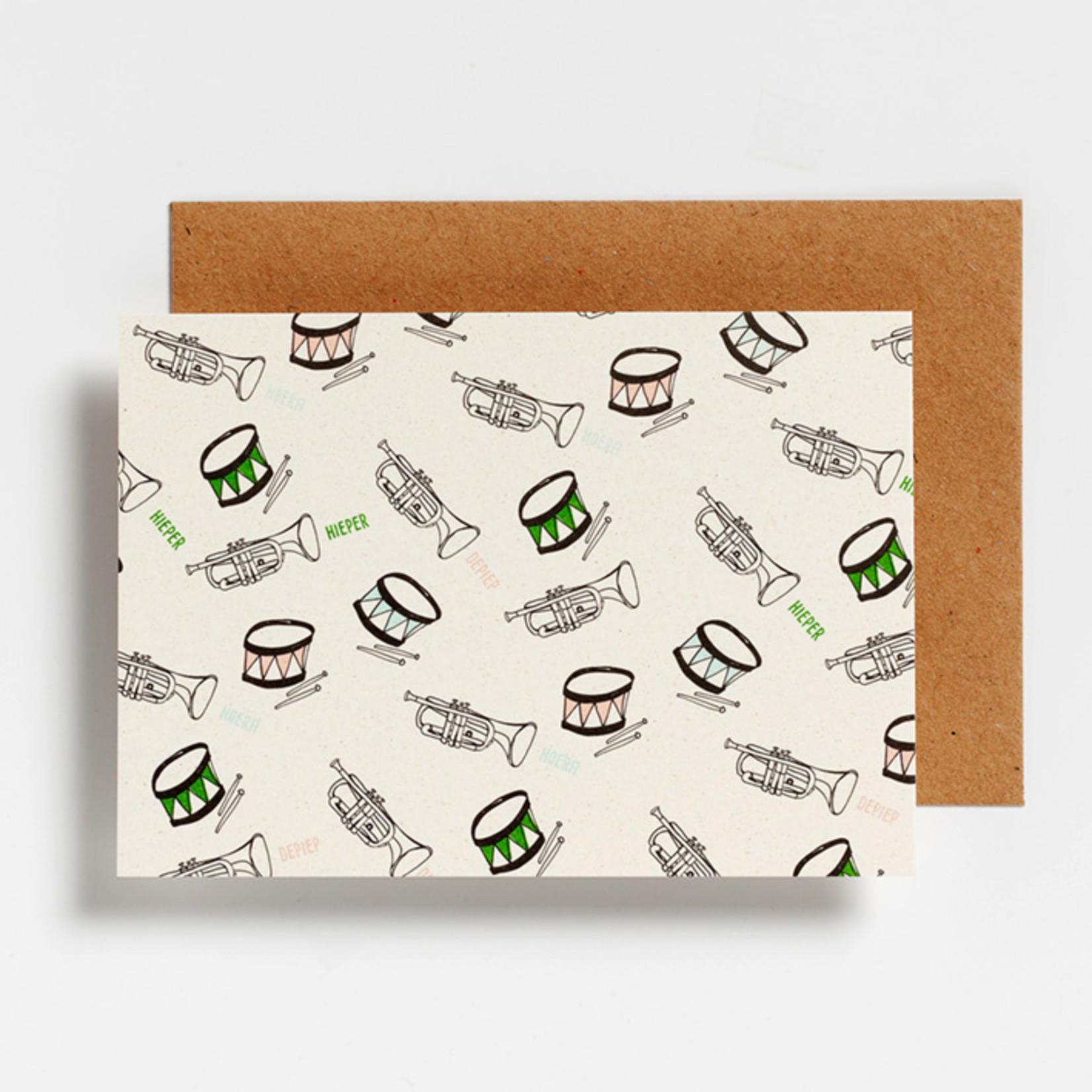 Postkaart - Hieper De Piep Hoera