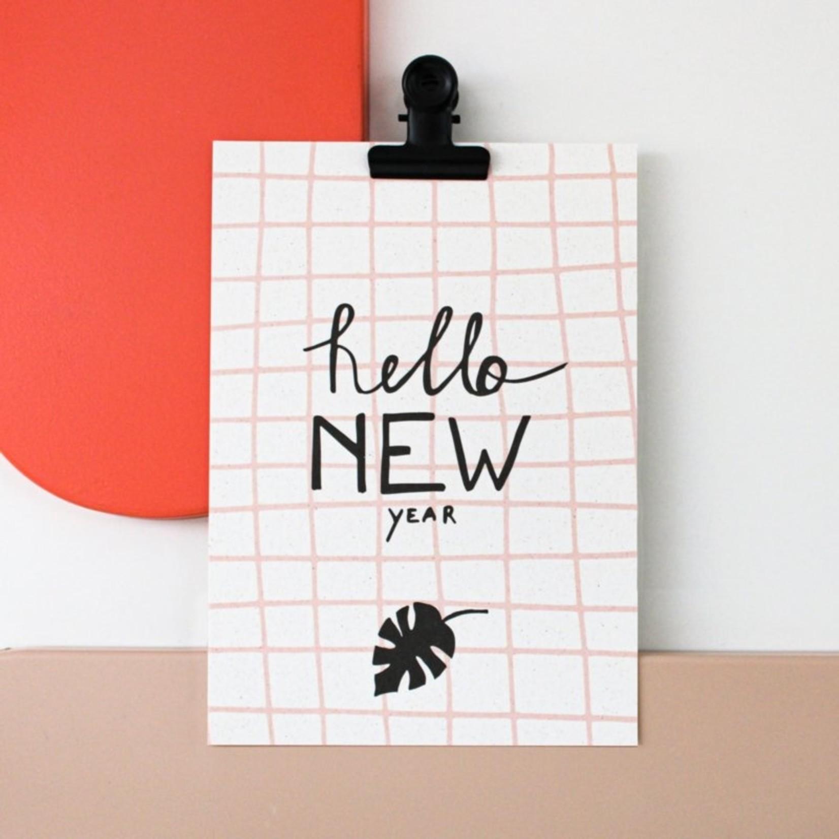 Postkaart - Hello New Year