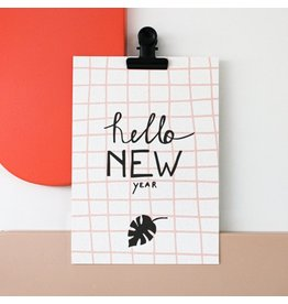 Postkaart - Hello New Year
