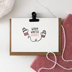 Postkaart - Warm Winter Wishes