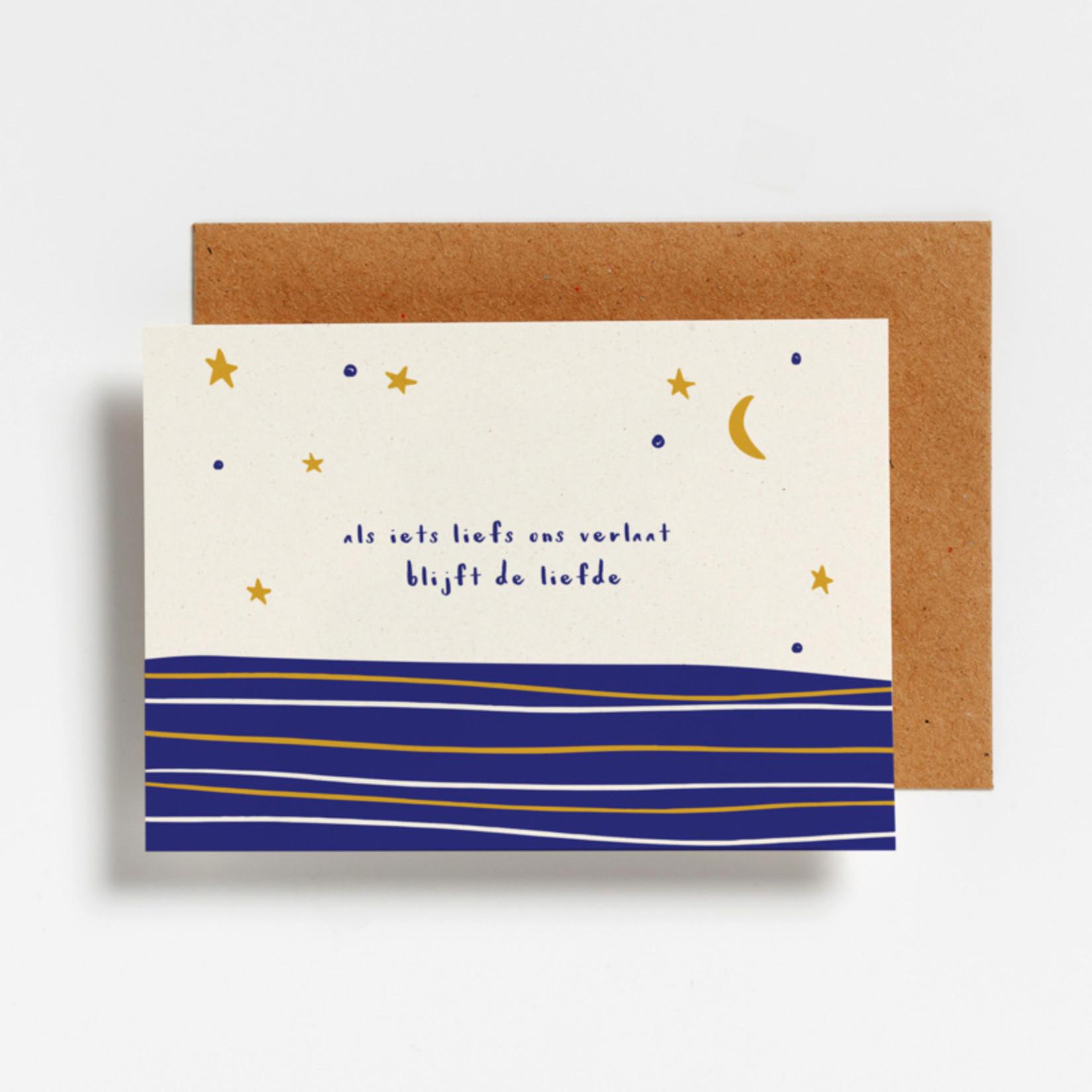 Postkaart - Als iets liefs ons verlaat