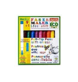 Oekonorm Viltstiften en een gum (10st)