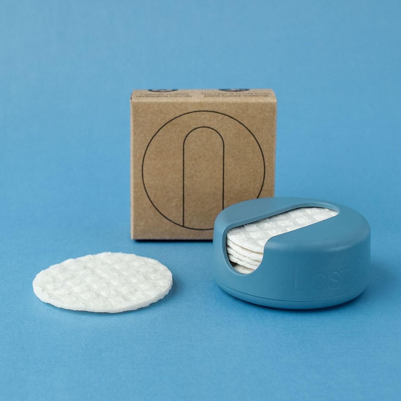 LastRound reusable makeup remover pads - blue