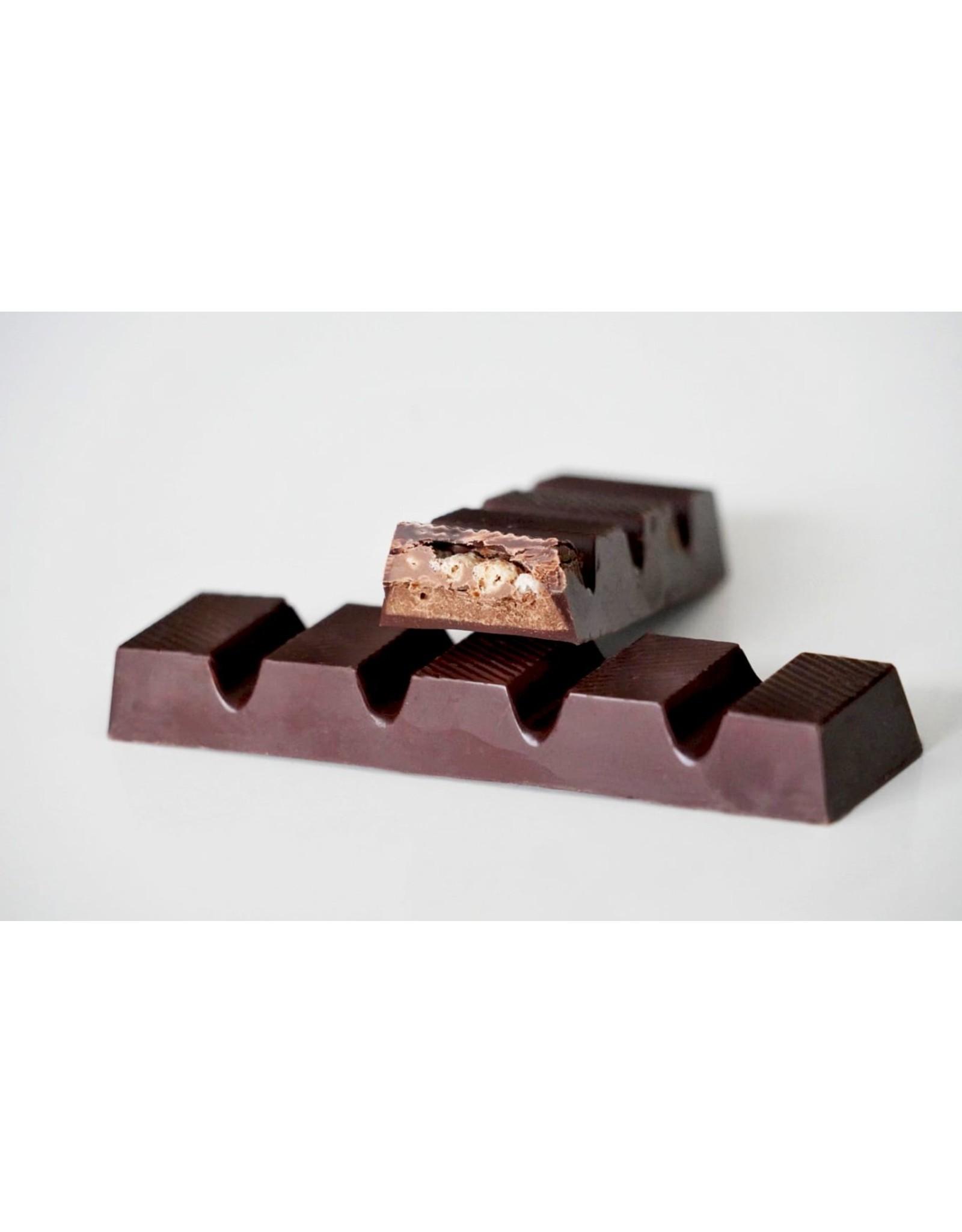 Chocoladebar crispy vulling