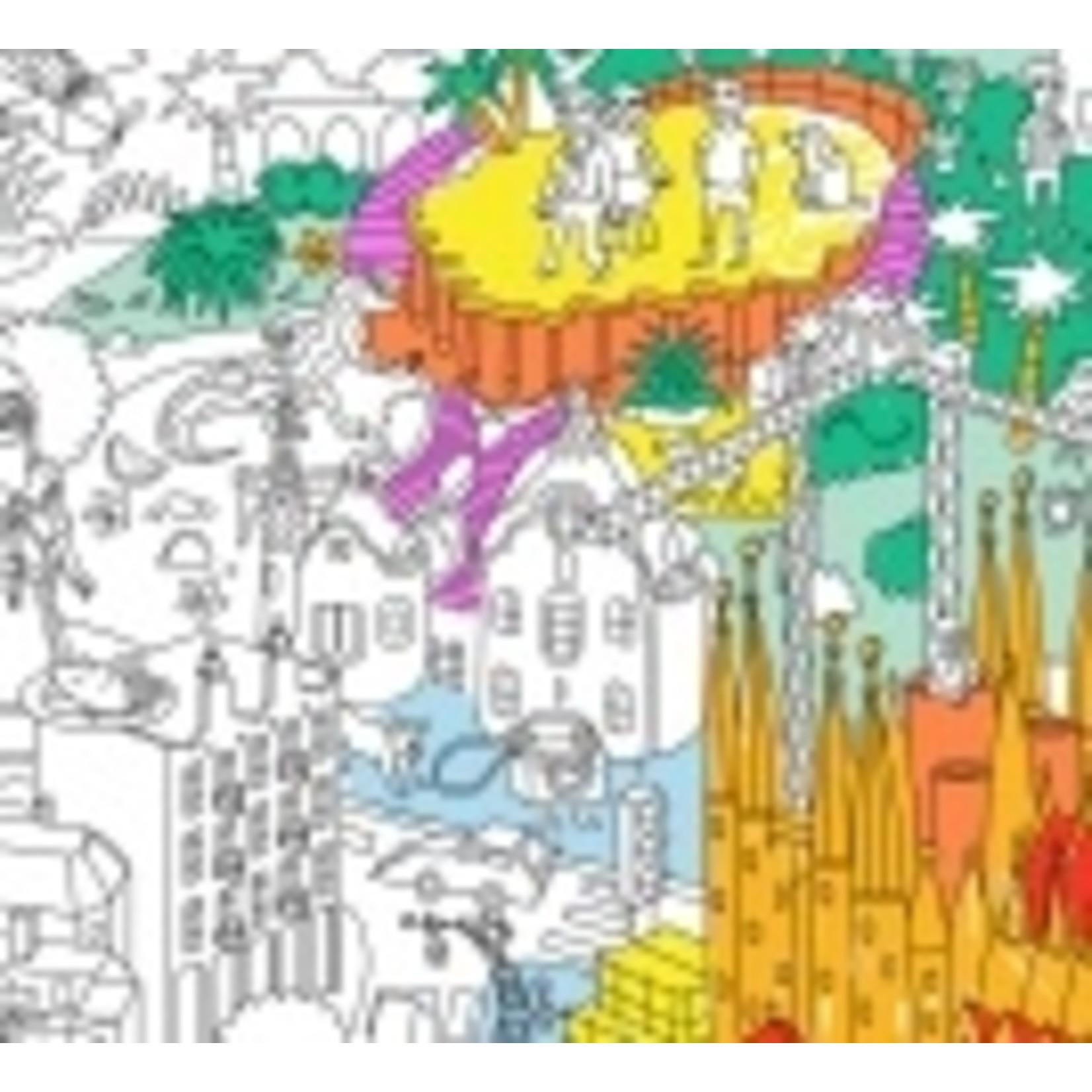 OMY Kleurposter Barcelona