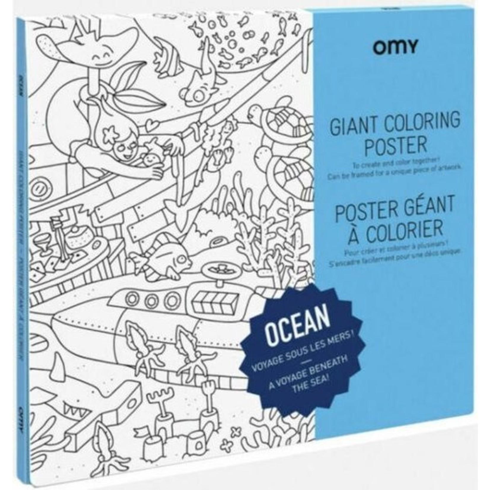 OMY Reuze Kleurposter Ocean