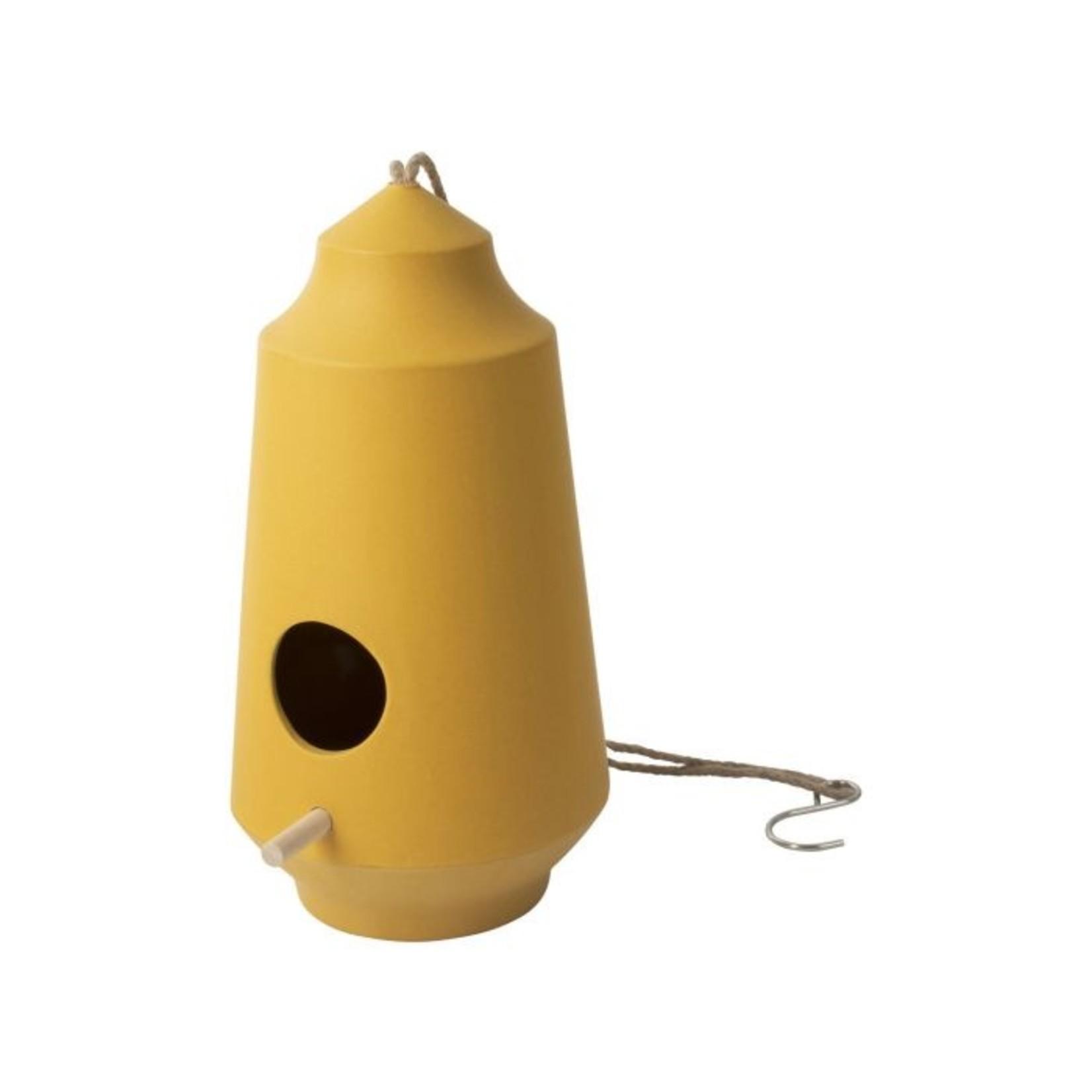 Vogelvoederhuisje geel