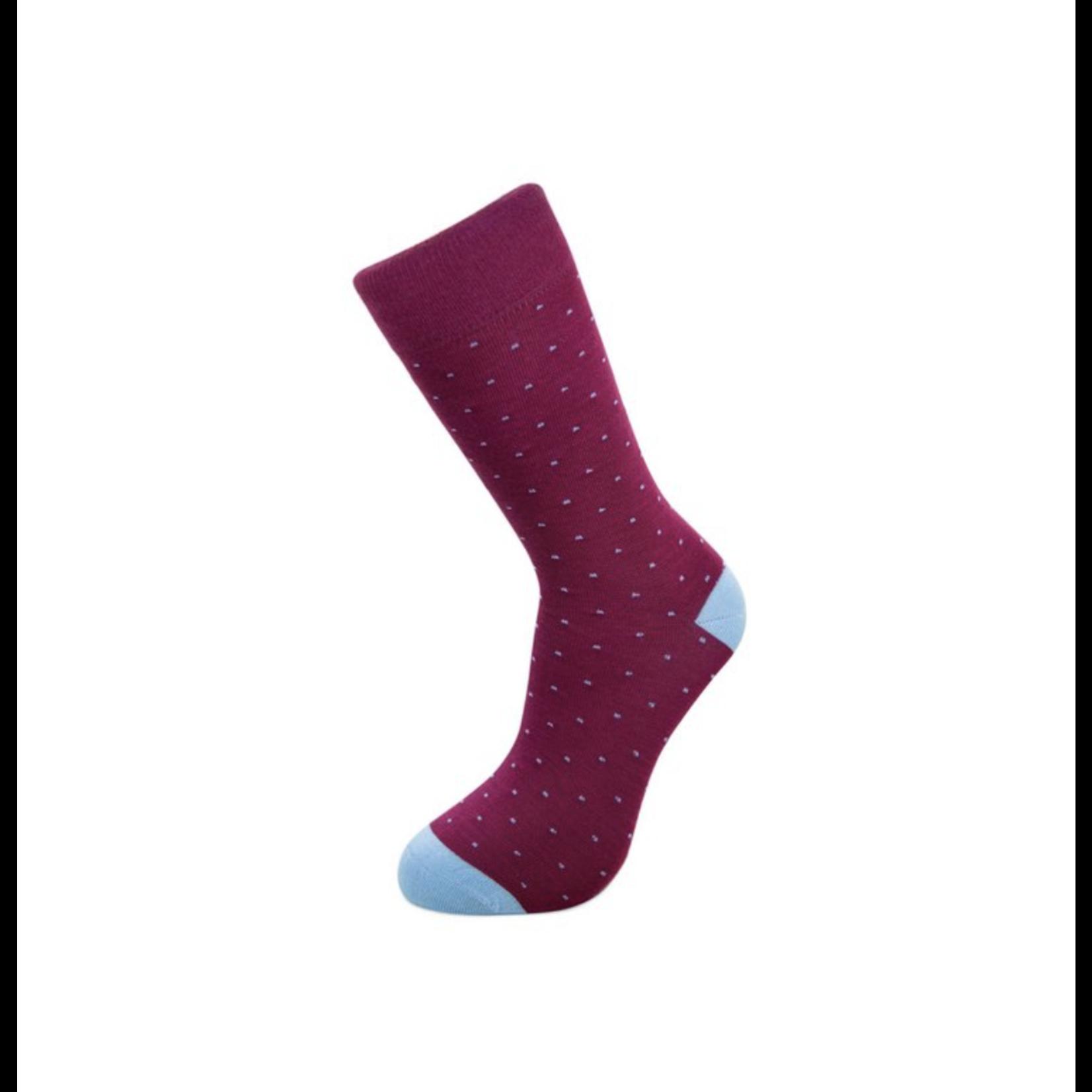 Gift Box riem Graeme en Burgundy Dots sokken (42-46)