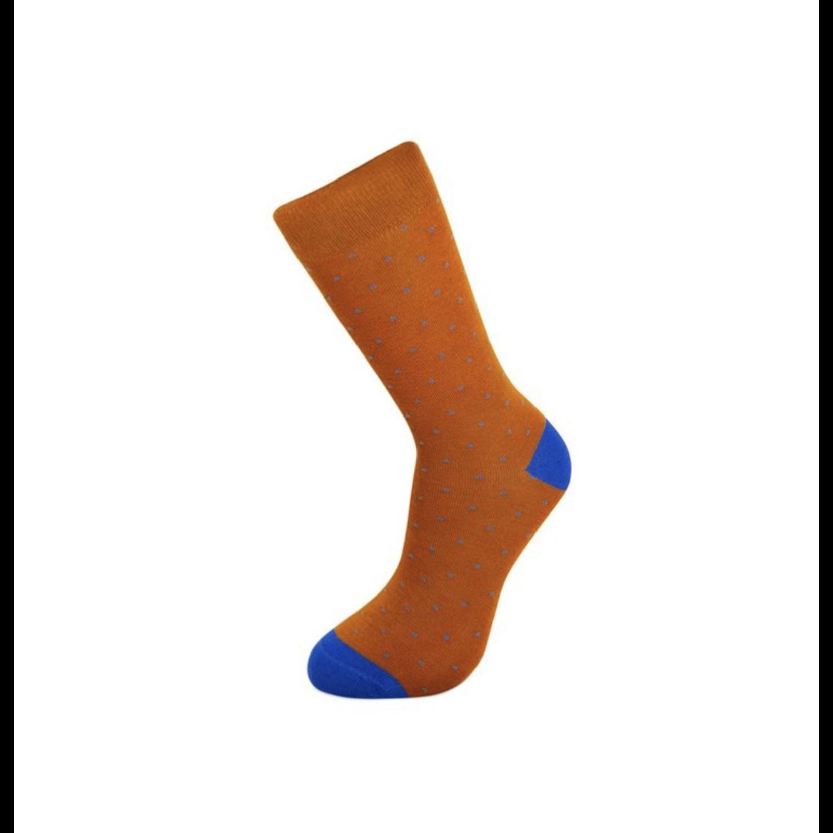 Gift Box riem David en Brown Dots sokken (42-46)
