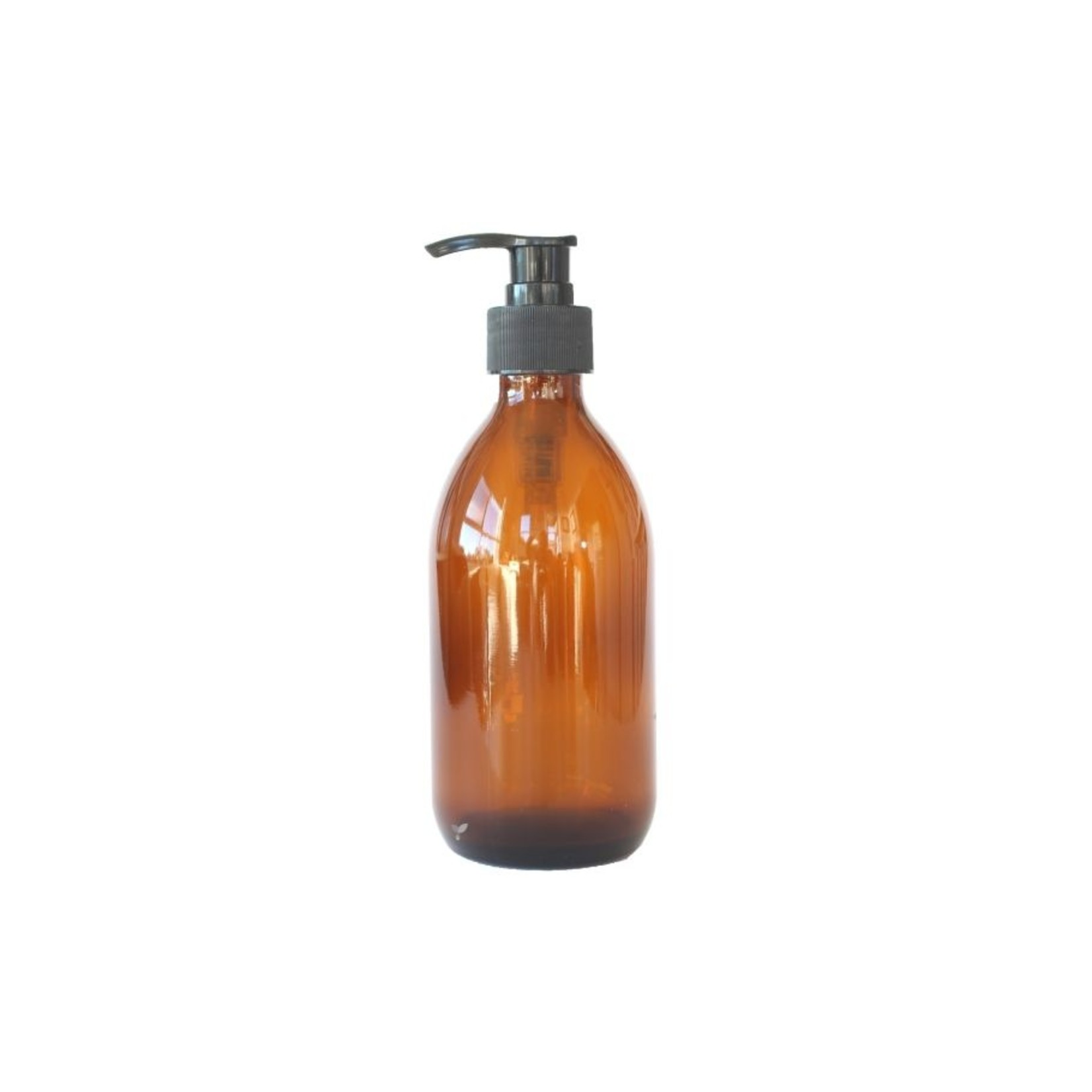 Glazen pompfles 300ml amber