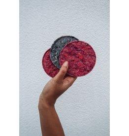 Be the fibre Coasters vilt (6st) - fushia