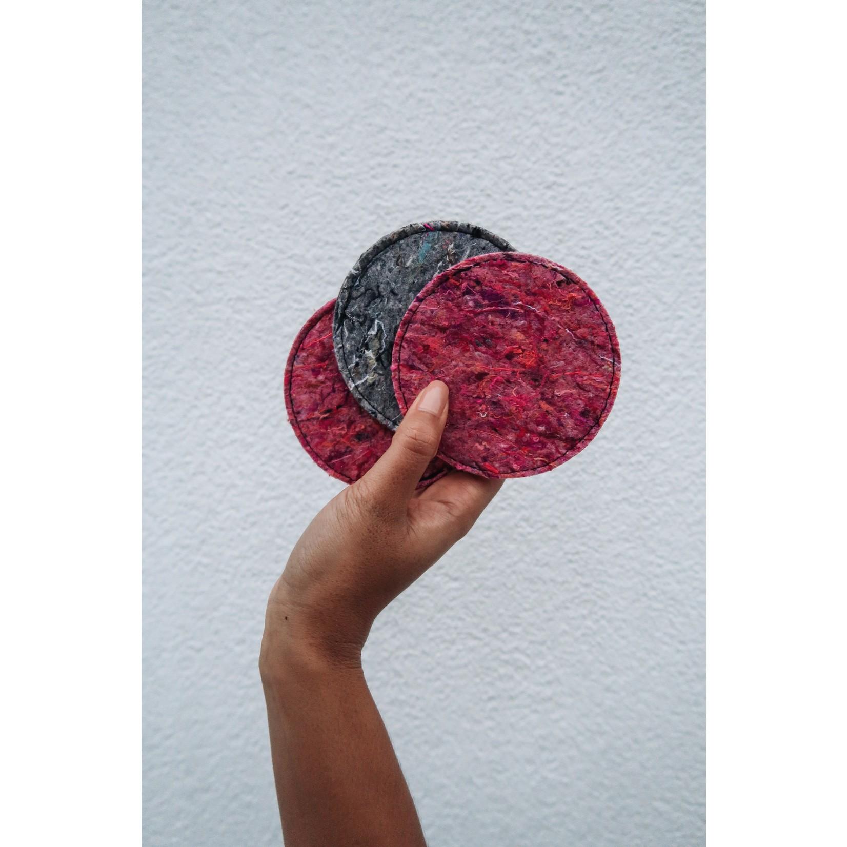 Be the fibre Coasters vilt (6st) - grijs
