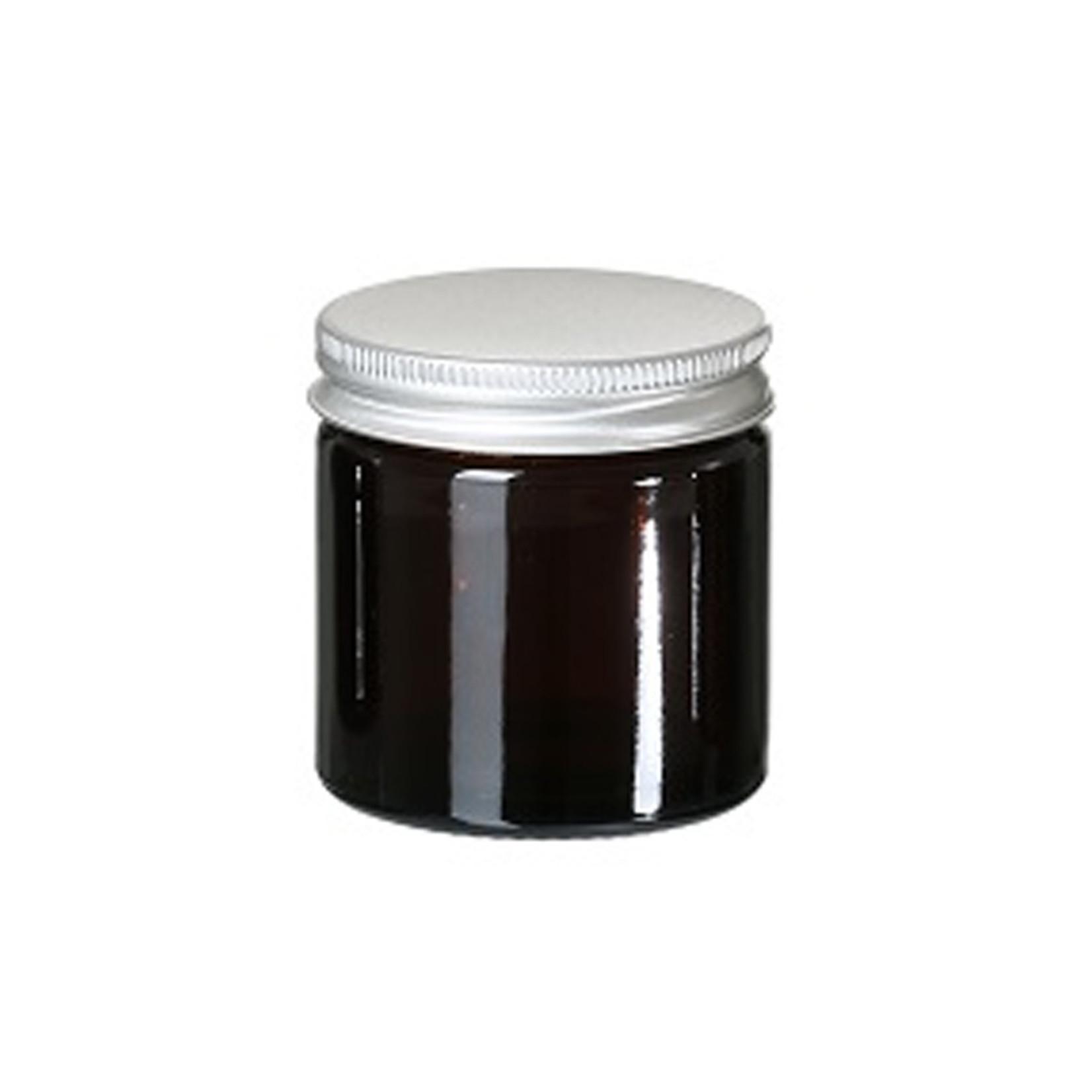 Glazen bruin potje 60 ml - 51mm/R3