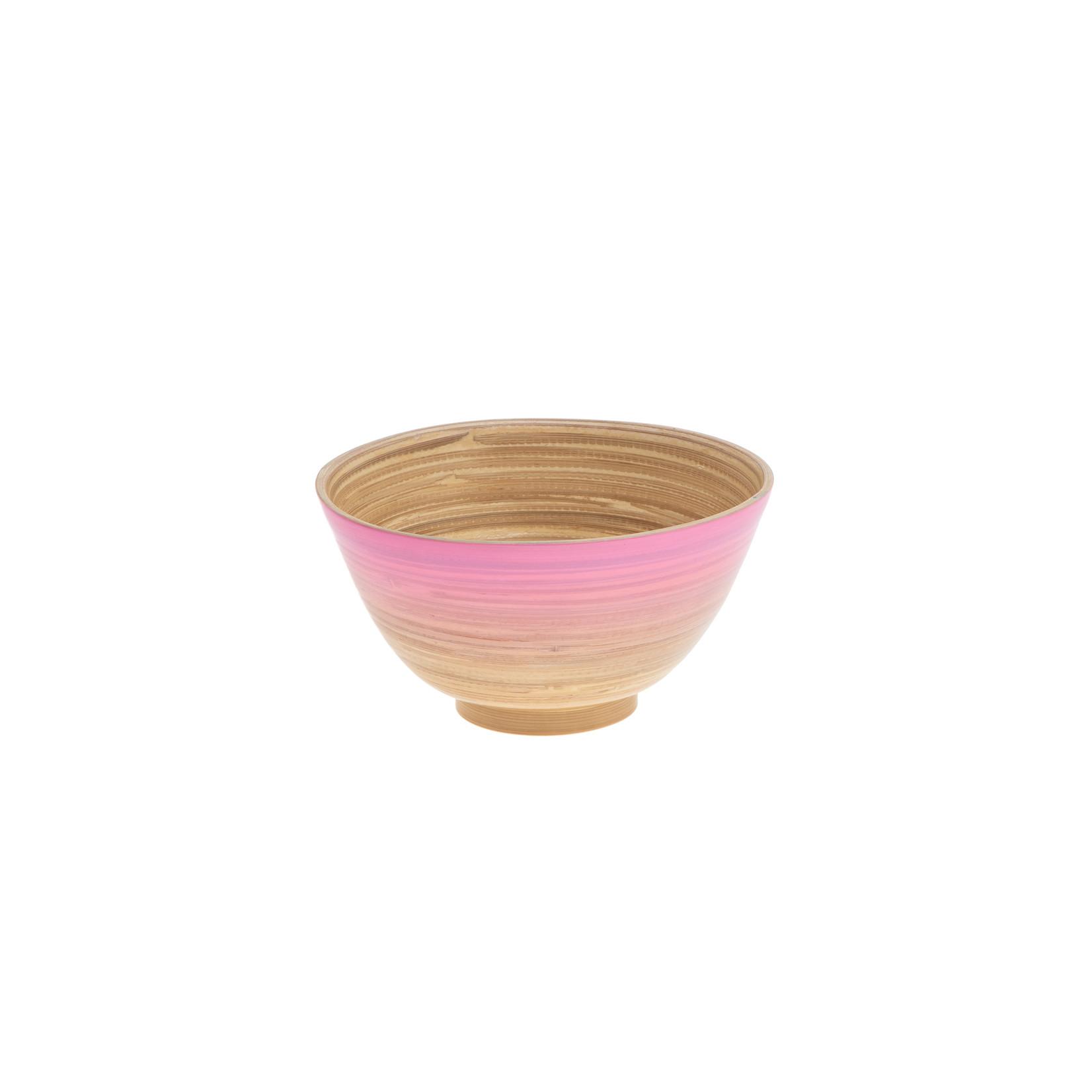 Bamboe Ibiza bowl roze