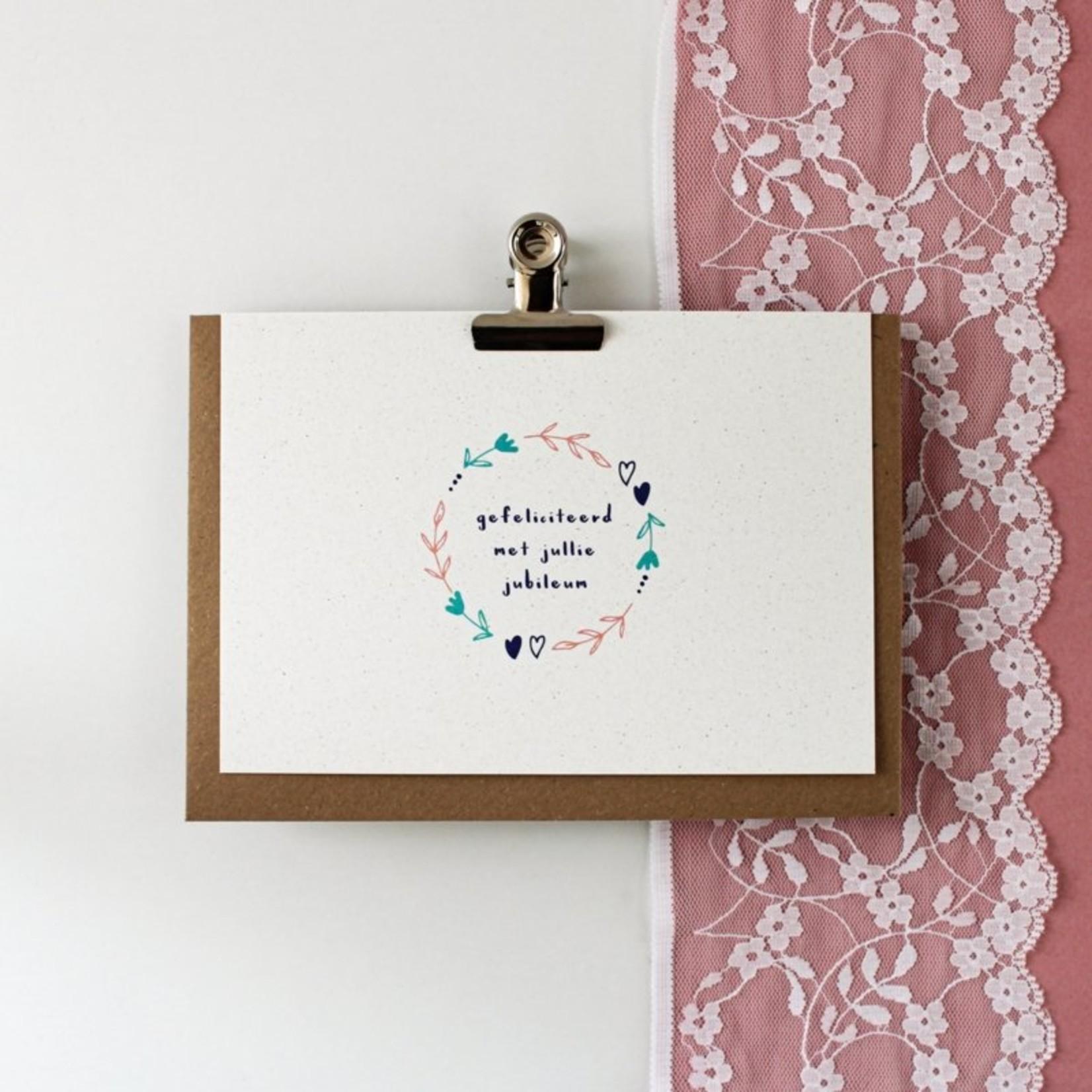 Postkaart - Gefeliciteerd met jullie jubileum
