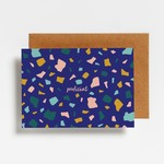 Postkaart - Proficiat marble