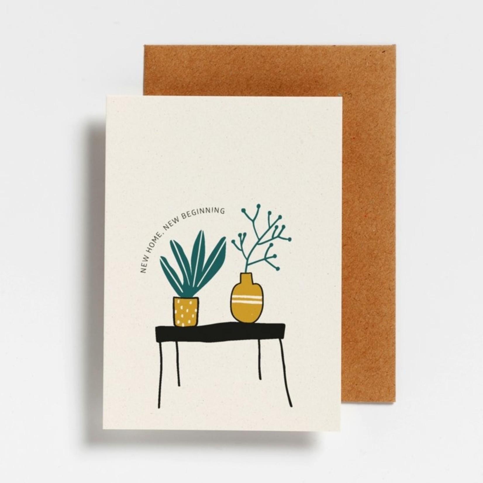Postkaart - New home, new beginning