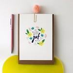 Postkaart - Zo blij met een juf als jij