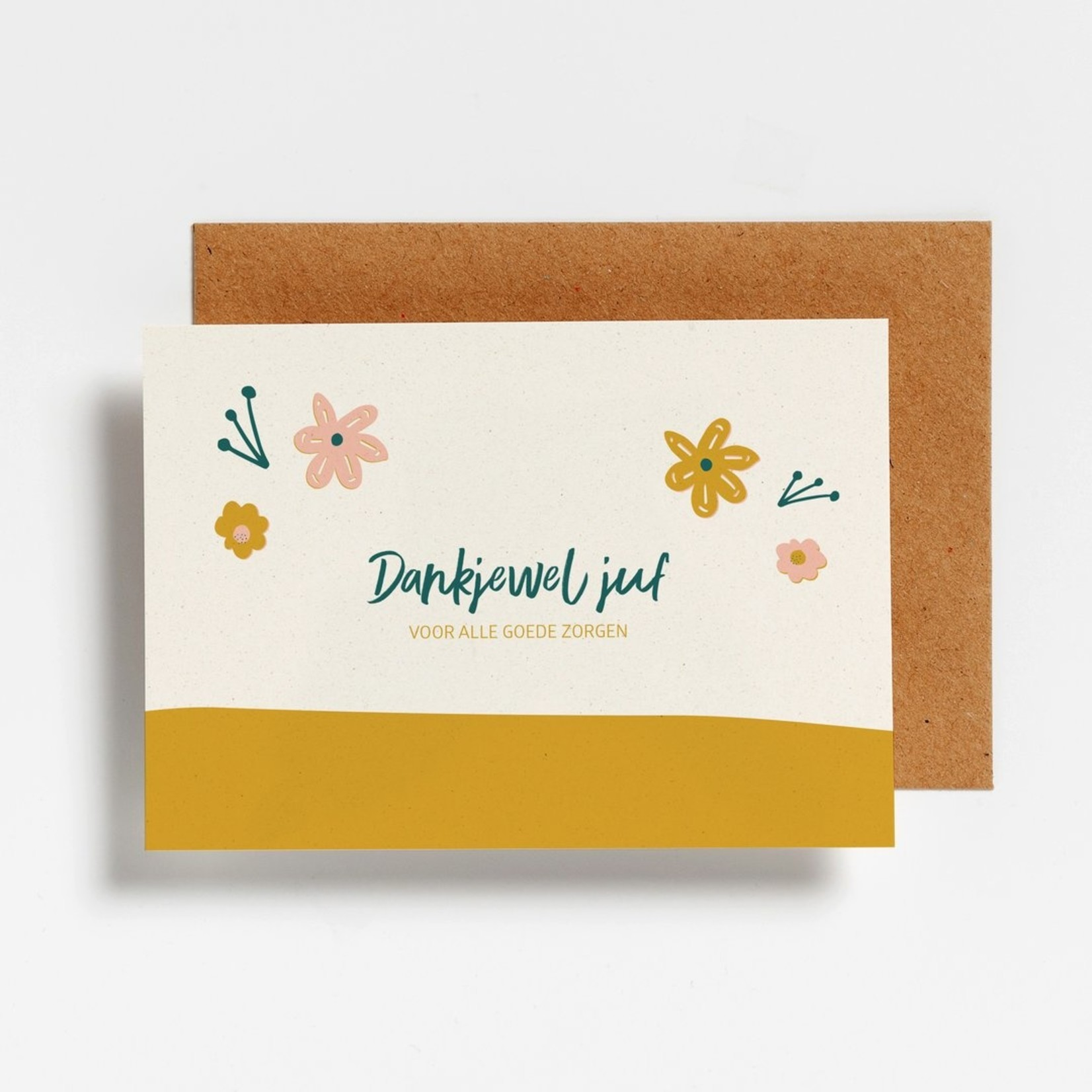 Postkaart - Dankjewel juf