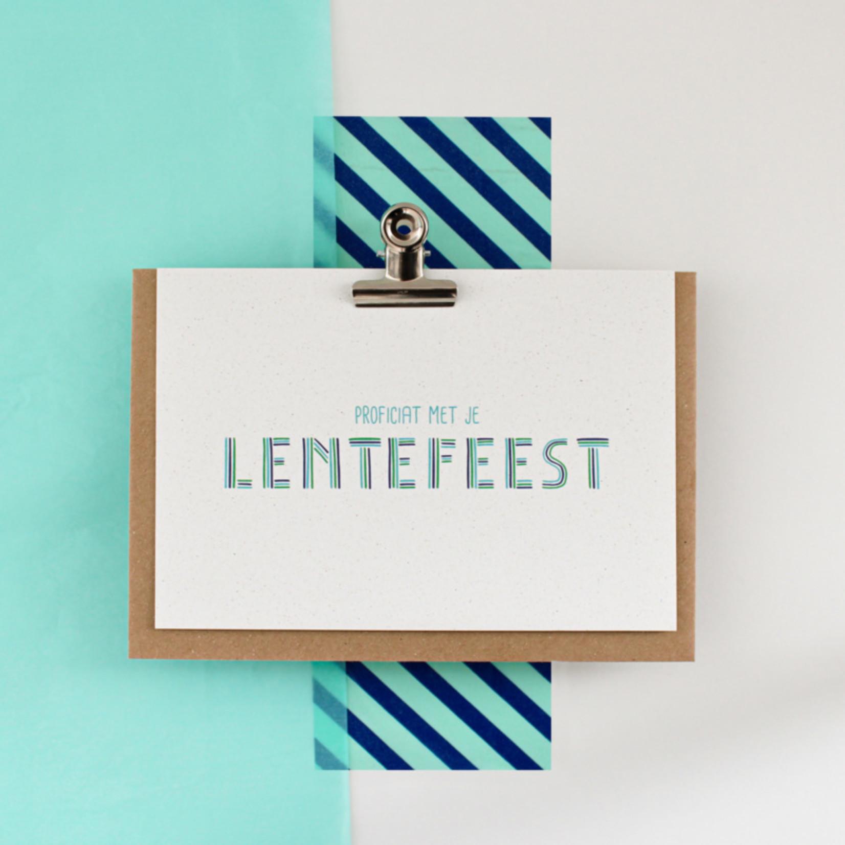 Postkaart - Proficiat met je lentefeest