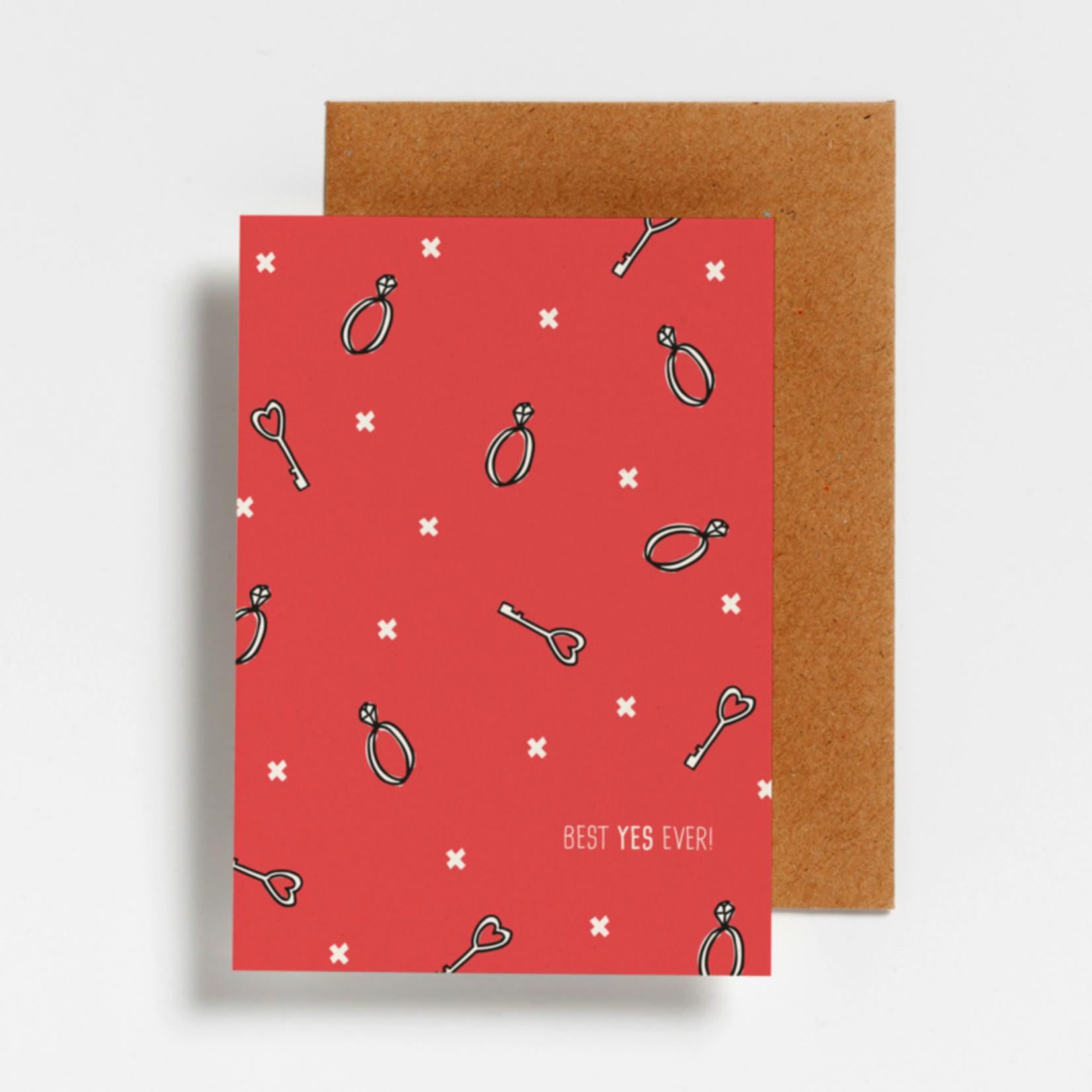 Postkaart - Best yes ever