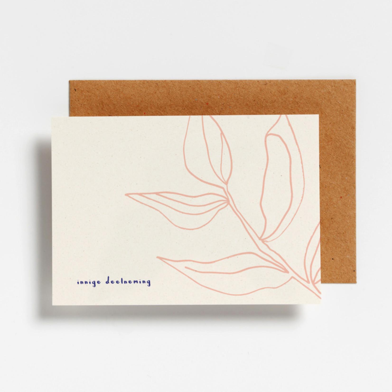 Postkaart - Innige deelneming