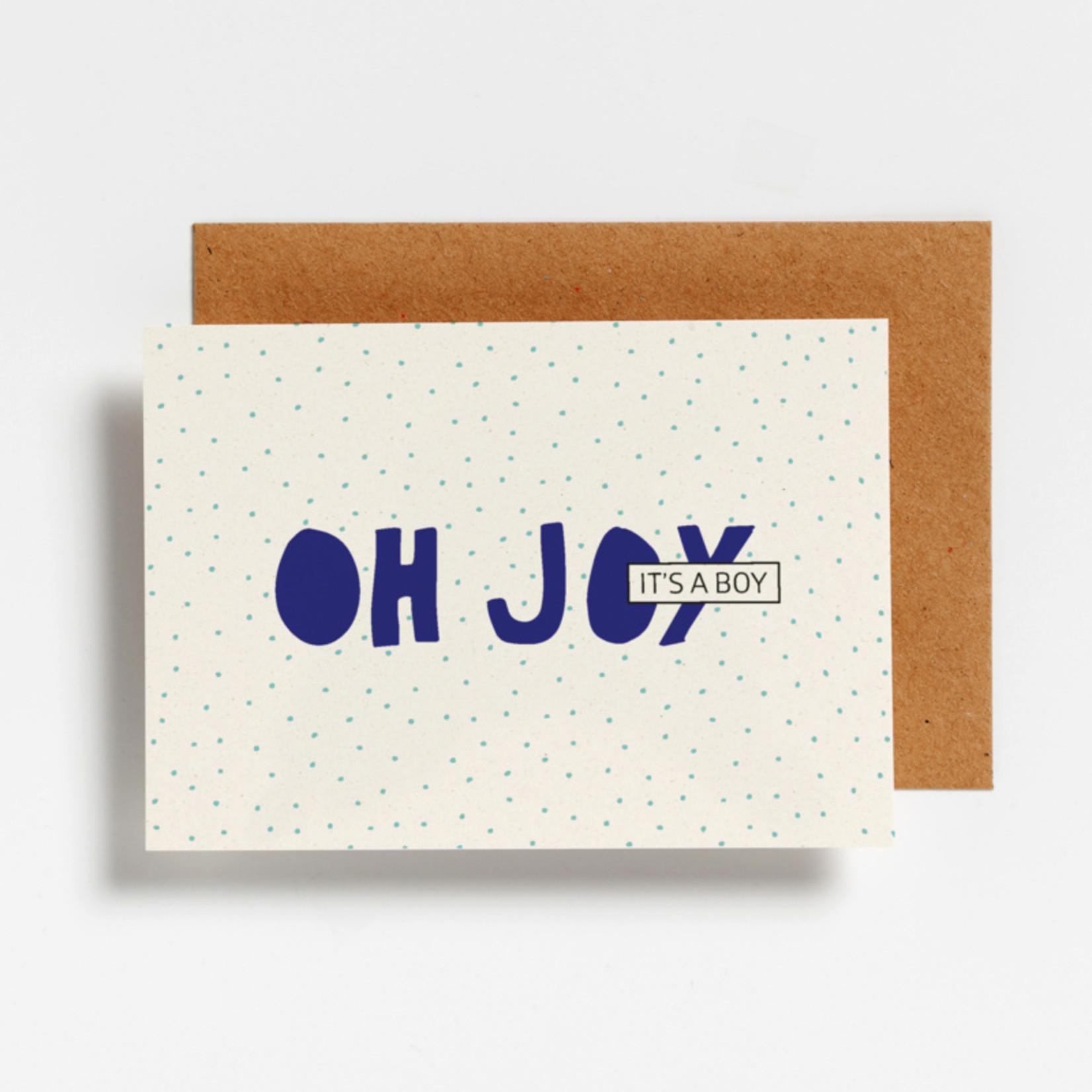 Postkaart - Oh joy it's a boy