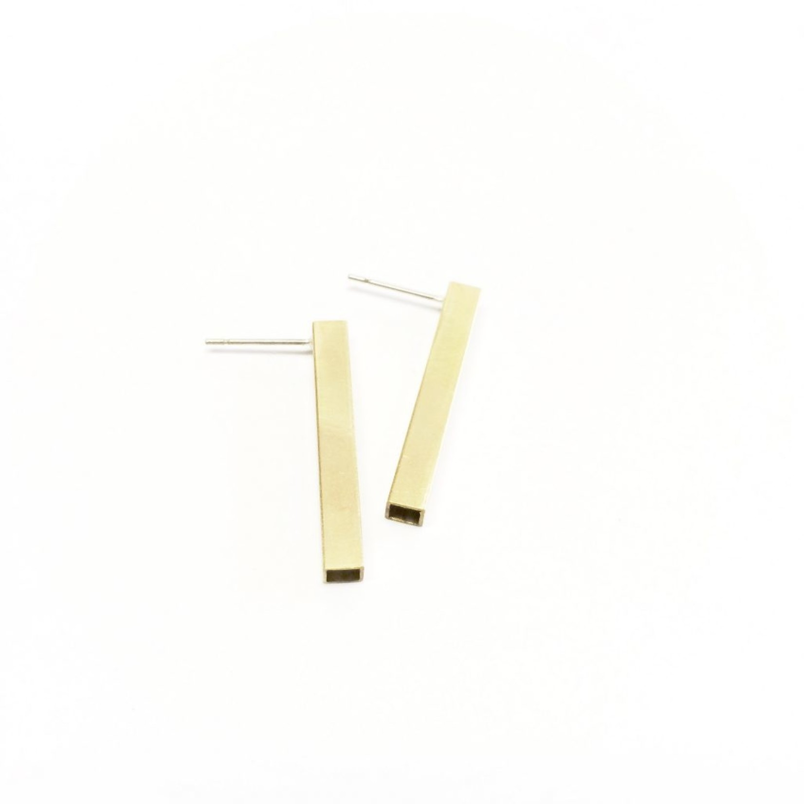 Inimini Homemade Brass square bar studs M