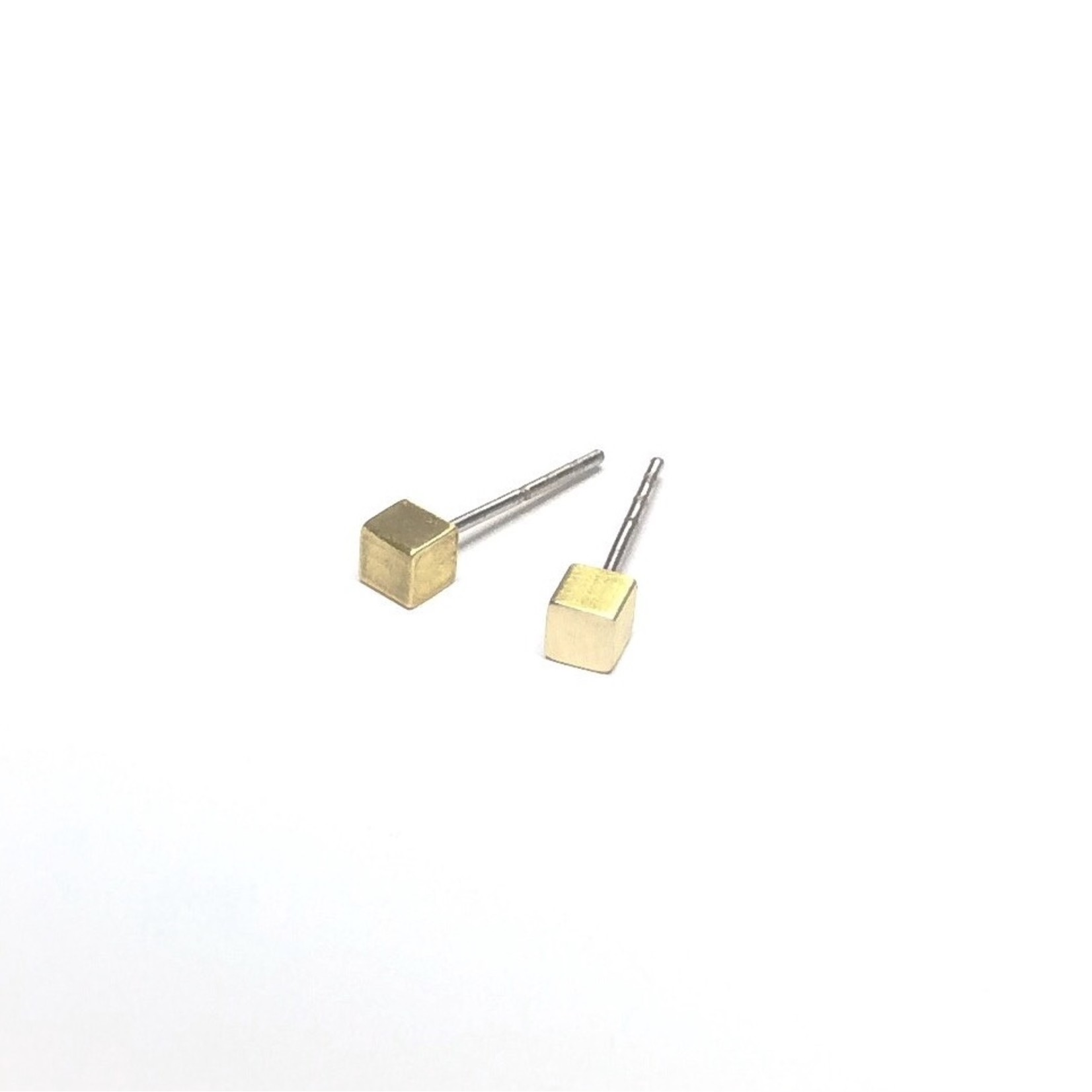 Inimini Homemade Brass mini studs square