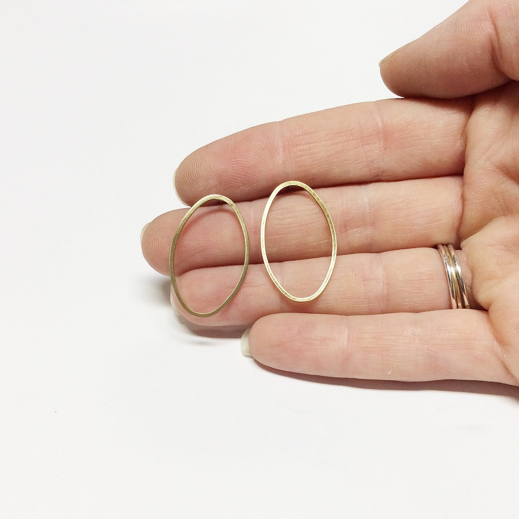 Inimini Homemade Brass thin oval