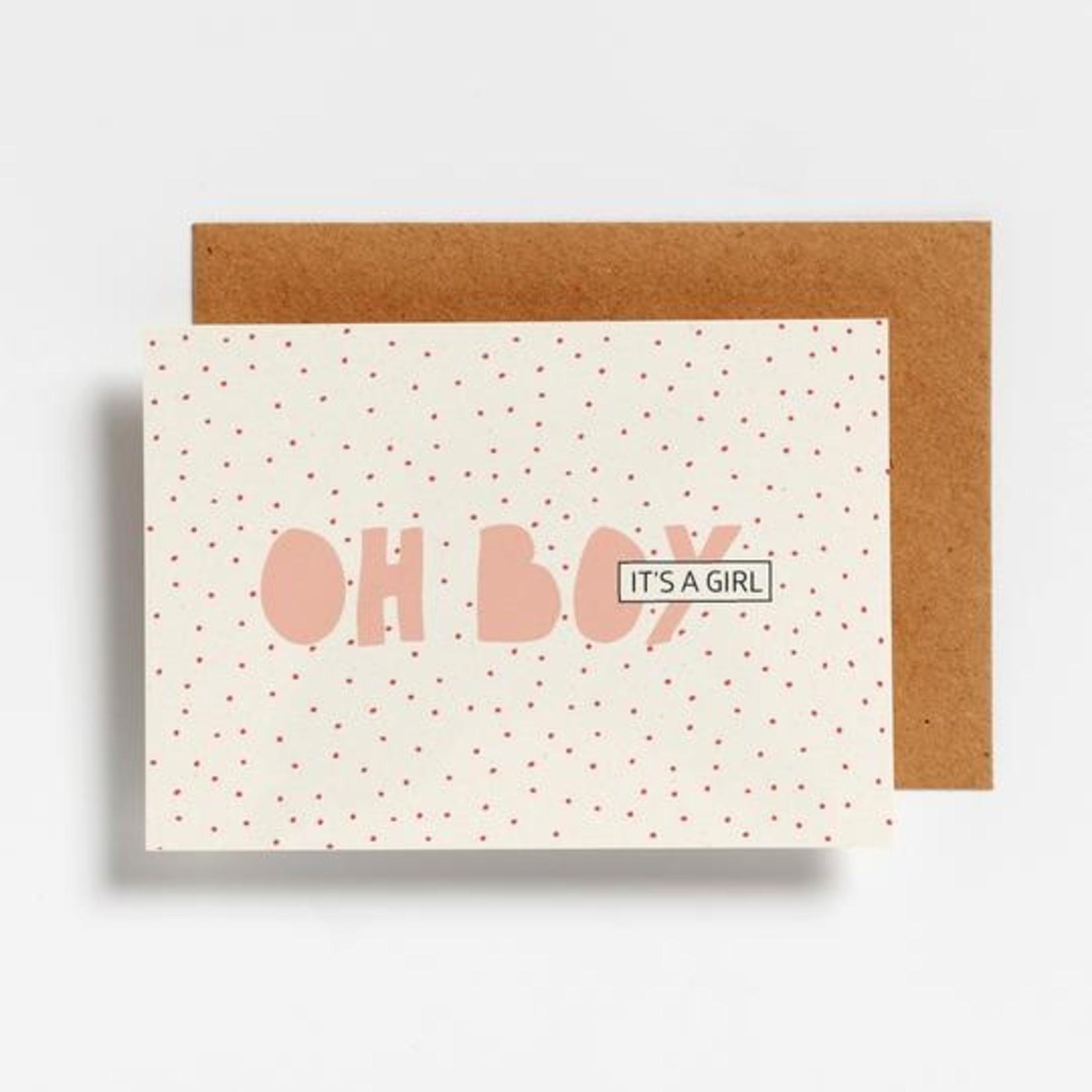 Postkaart - Oh boy it's a girl