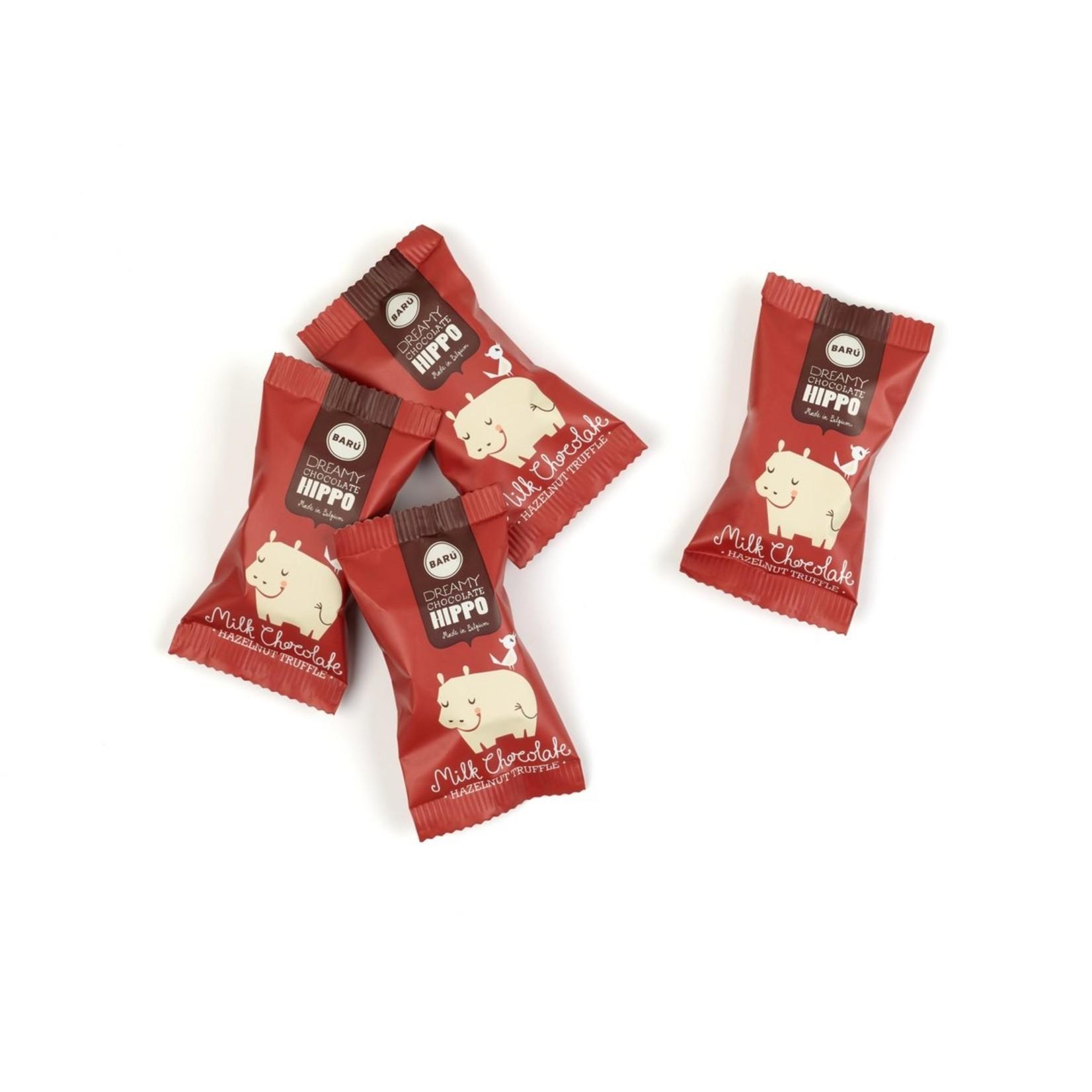Baru Dreamy Chocolate Hippos Milk Chocolate & Hazelnut Truffle