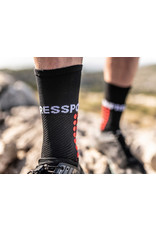 Compressport Ultra Trail Socks Hardloopsokken Hoog - Zwart