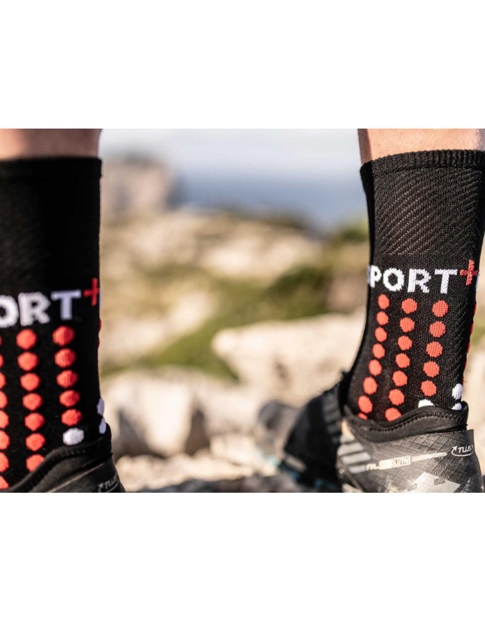 Compressport Ultra Trail Socks Chaussettes Hautes - Noir