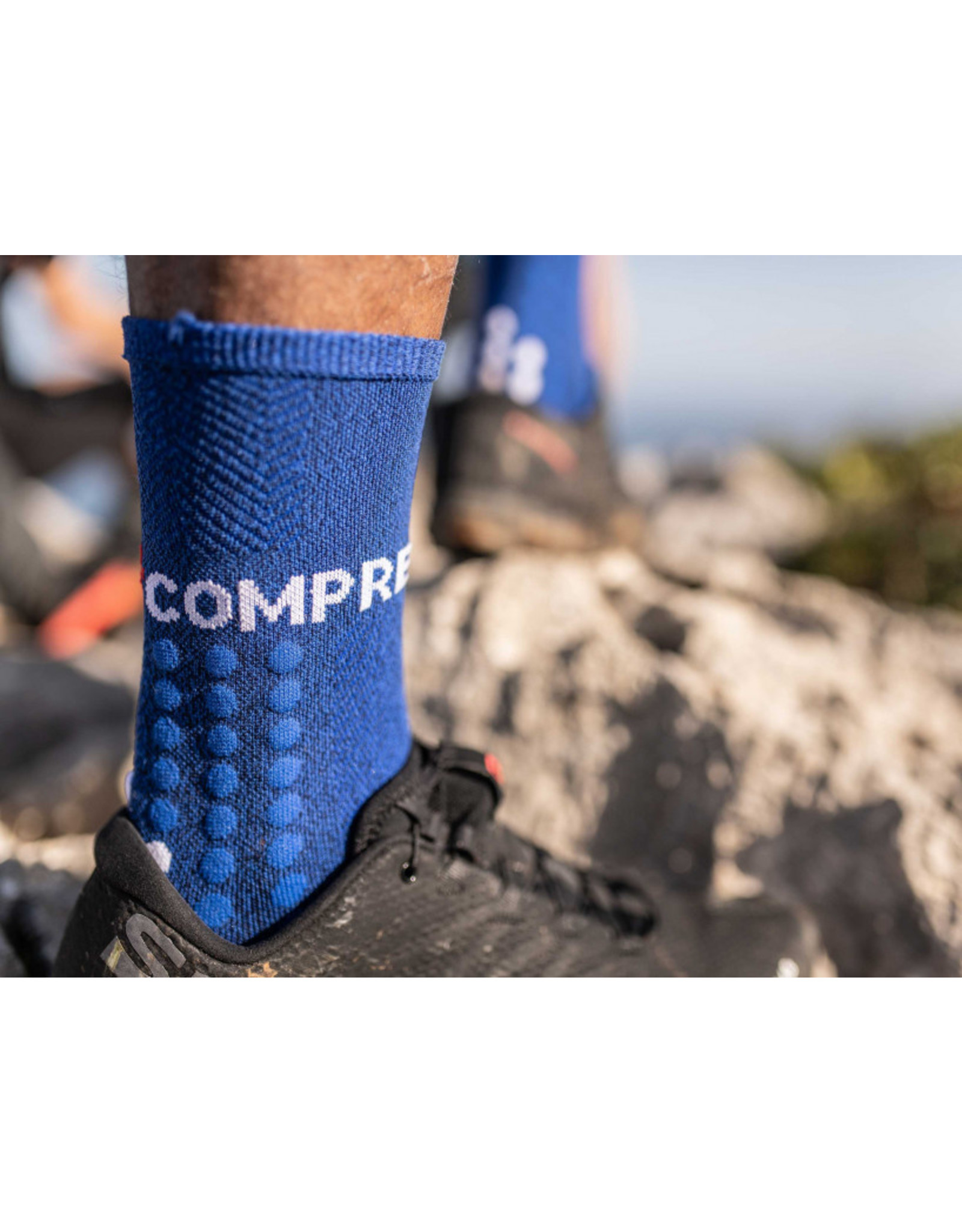 Compressport Ultra Trail Socks Hardloopsokken Hoog - Blauw
