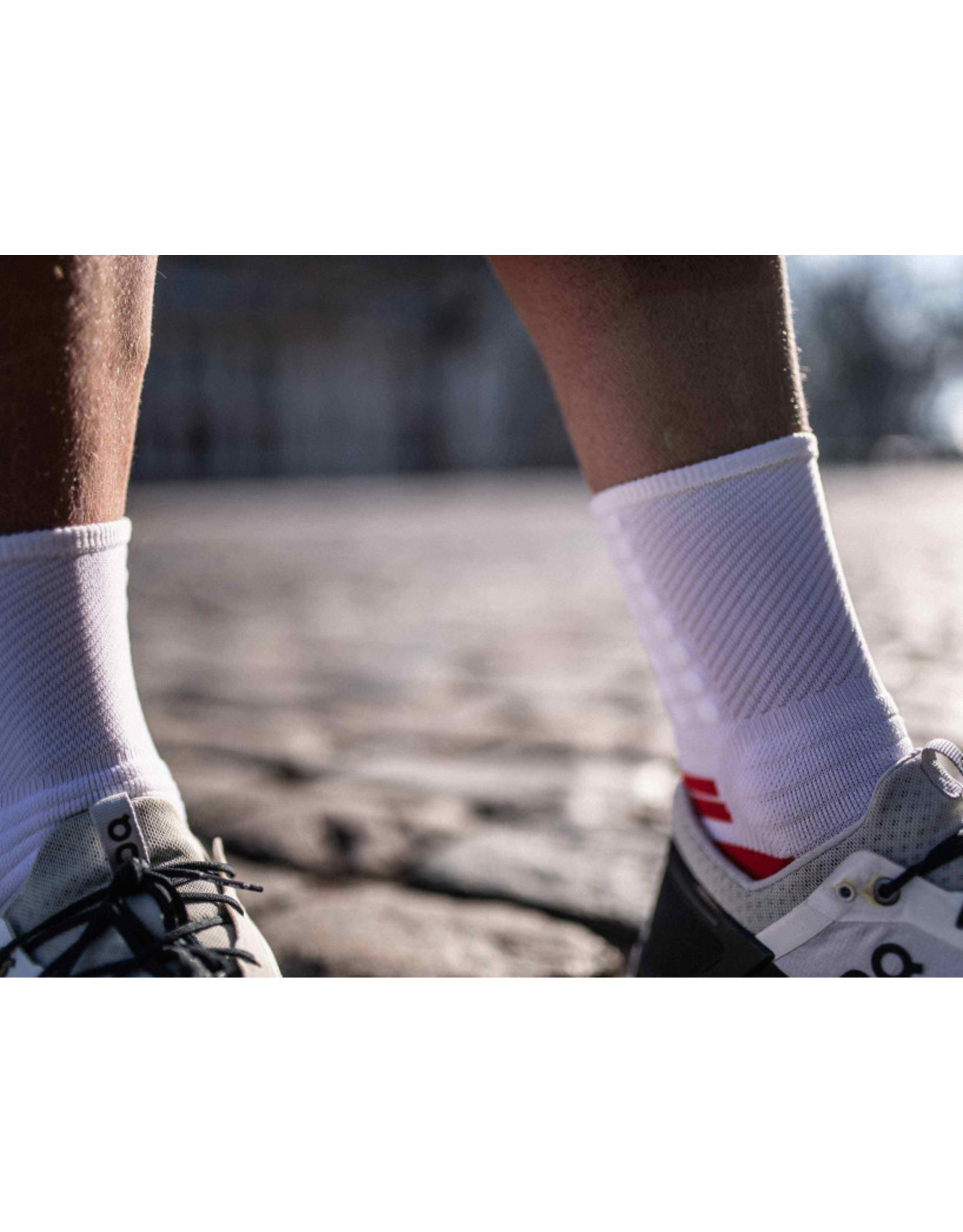 Compressport Pro Marathon Socks Chaussettes De Running Haute - Blanc