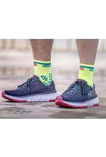 Compressport Pro Racing Socks V3.0 Run High Hardloopsokken Hoog - Geel