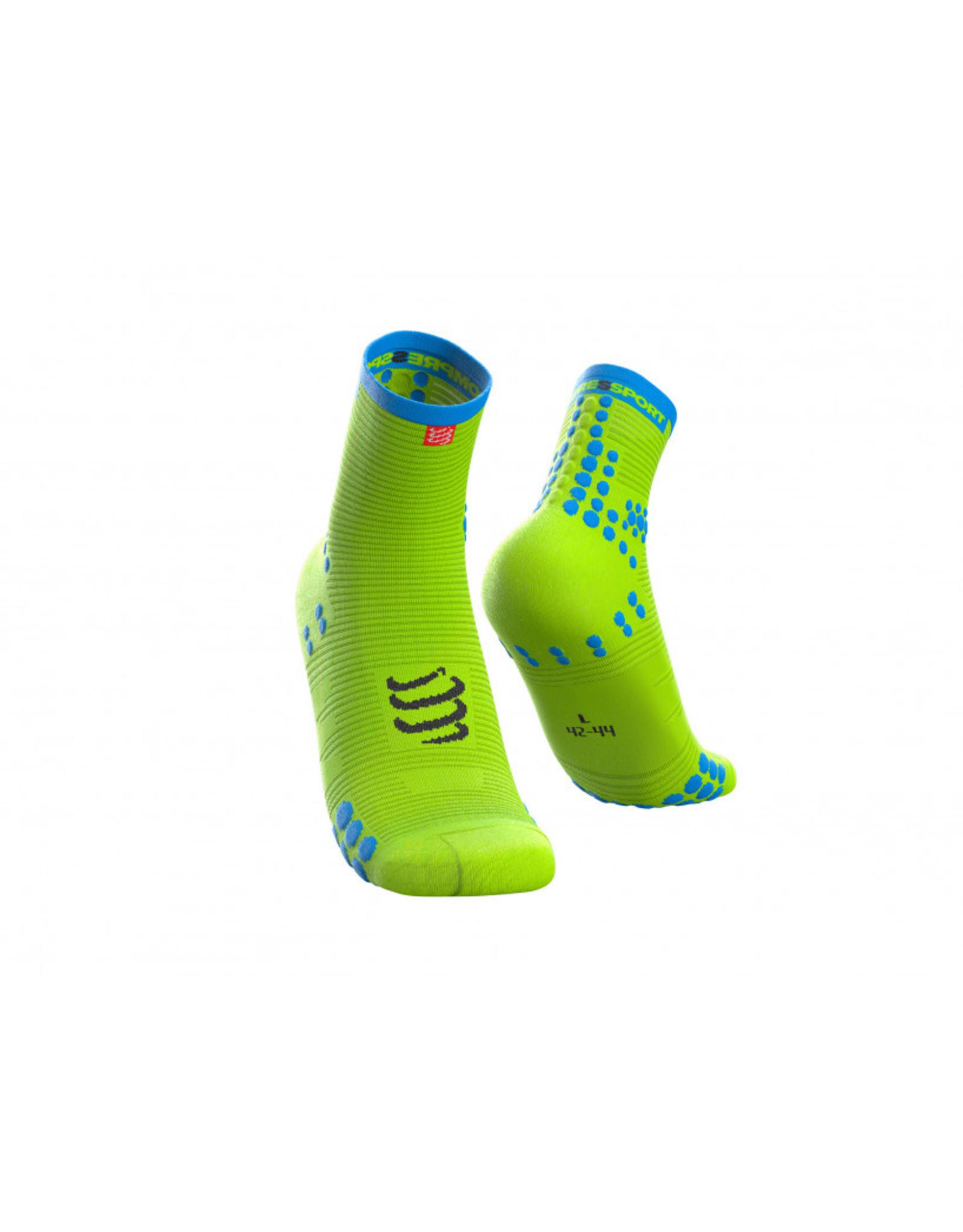Compressport Pro Racing Socks V3.0 Run High Chaussettes De Running Haute - Jaune